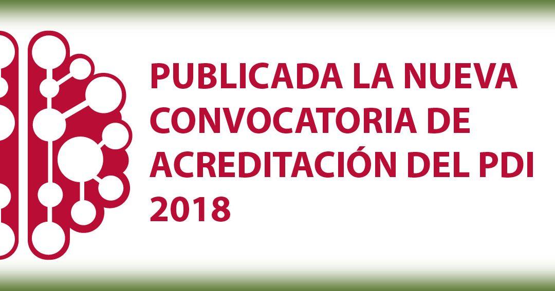 · Publicada la próxima Convocatoria Ordinaria de Acreditación del PDI de 2018