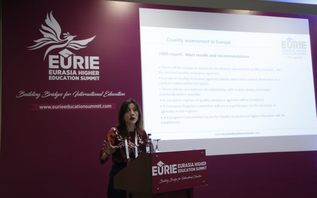 ·Unibasq's Chief Executive Eva Ferreira conducts a seminar about European Quality Assurance in Higher Education in EURIE 2018