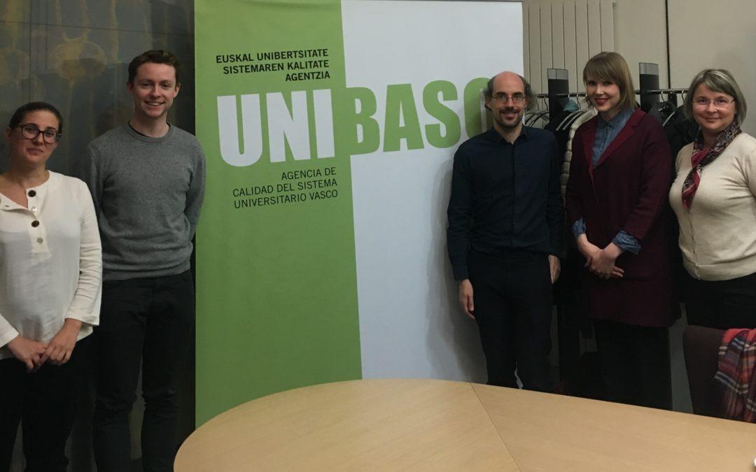 • Unibasq recibe la visita del panel de expertos de ENQA