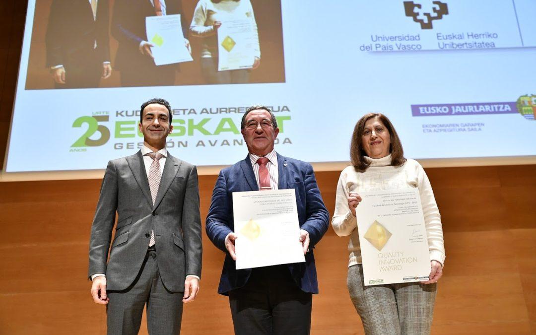 """• Unibasq hands in """"Best University Innovation Award"""" in Euskalit's Quality Innovation Awards 2018"""