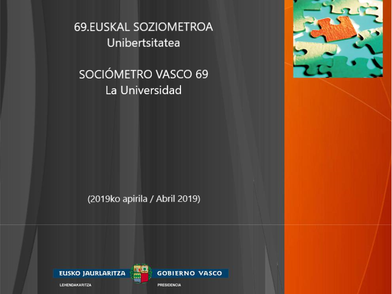 • The Basque Government has published its 69th Basque Sociometre – University